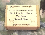 Black Raspberry Cream Goat Milk Soap